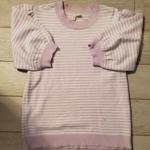 Anthropologie Sweaters - Moth/Anthropologie Lilac Puff Sleeved Sweater